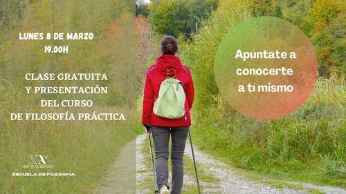Charla gratuita y presentación del curso de filosofía práctica